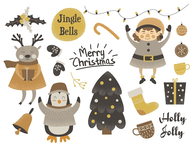 Zestaw ładny świąteczny charakter