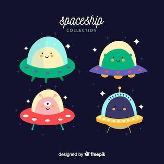 Zestaw ładnych statków kosmicznych
