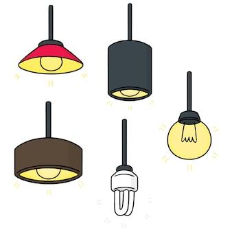 Zestaw lampy sufitowej
