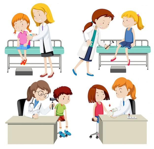 Zestaw lekarza i dziecka
