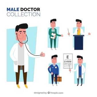 Zestaw lekarzy z różnymi specjalizacjami