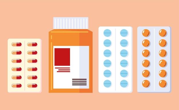 Zestaw leków aptecznych