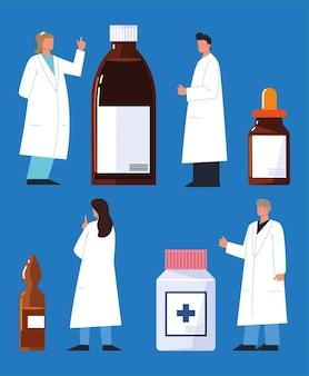 Zestaw leków farmaceuta