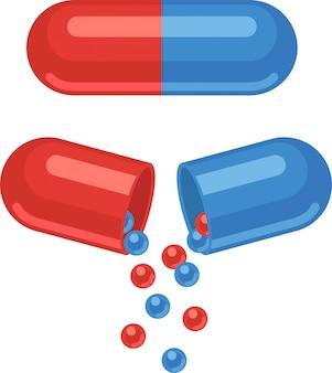 Zestaw leków i tabletek