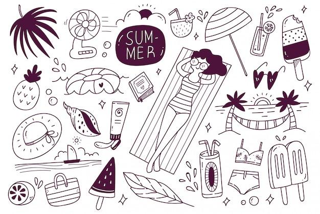 Zestaw letni doodle