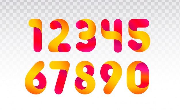 Zestaw liczb od 0 do 9.