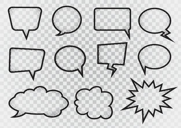 Zestaw linii bąbelków mowy
