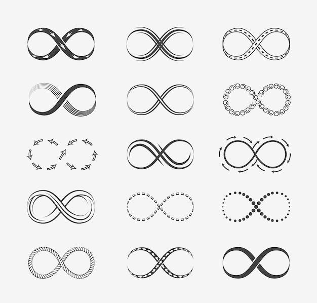 Zestaw linii nieskończoności.
