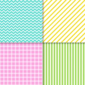 Zestaw linii pastelowy wzór tła.