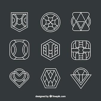 Zestaw liniowych logo