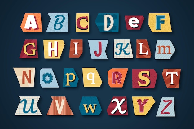 Zestaw listów z notatką o okupie w stylu papieru