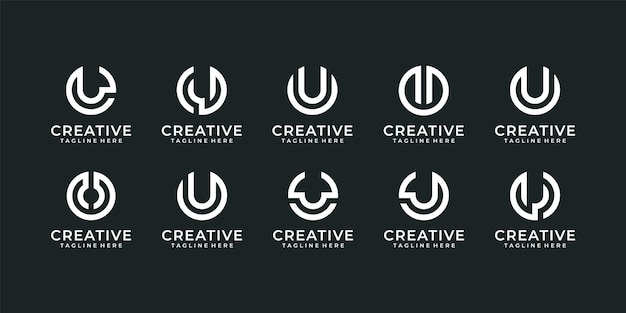 Zestaw listu u nowoczesnej typografii edytowalnego projektu logo