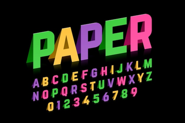 Zestaw liter alfabetu i cyfr