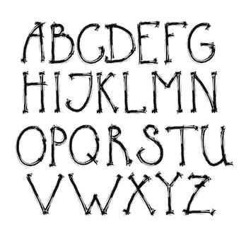 Zestaw liter alfabetu tekst czarny napis zestaw