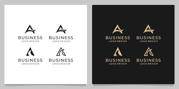 Zestaw litery a abstrakcyjny symbol dla kolekcji projektowych logo ikony biznesu