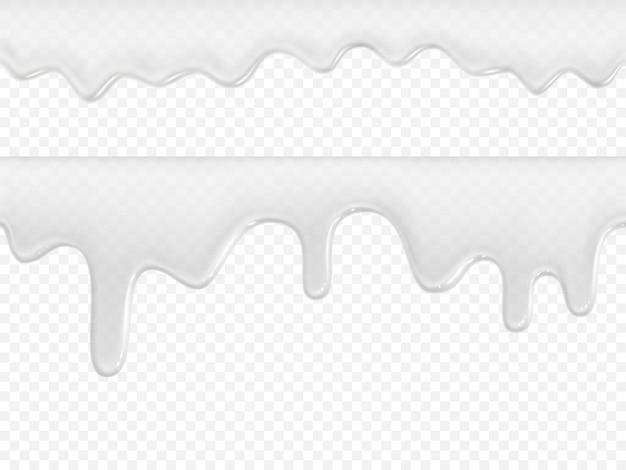 Zestaw lodów lub mleka cream jogurt