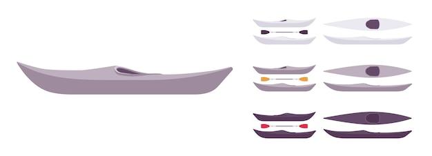 Zestaw łodzi kajakowych