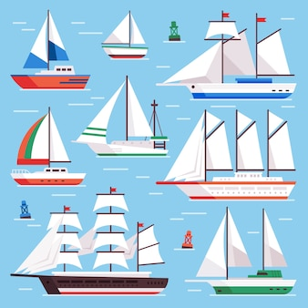 Zestaw łodzi żaglowych