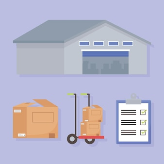 Zestaw logistyczny do dostawy