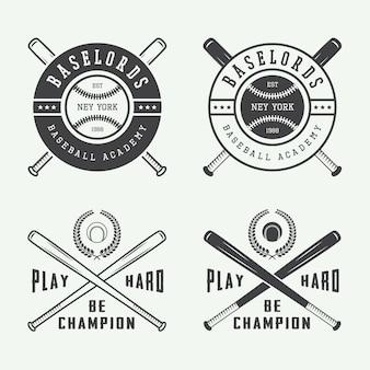 Zestaw logo baseballu