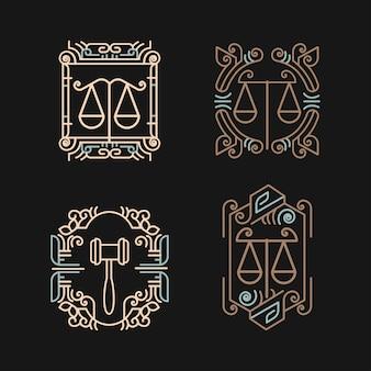 Zestaw logo biura prawnego