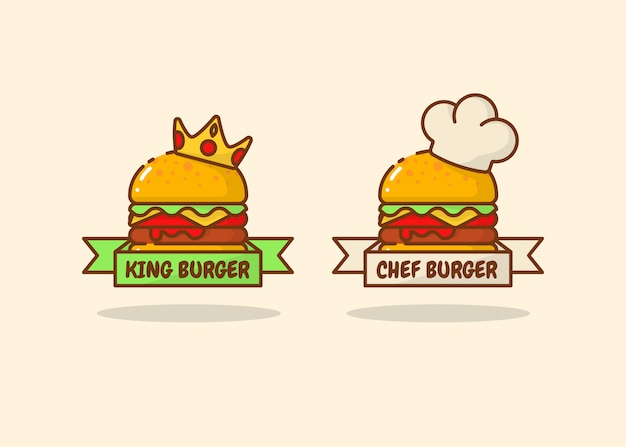 Zestaw logo burger