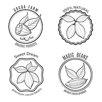 Zestaw logo cacao