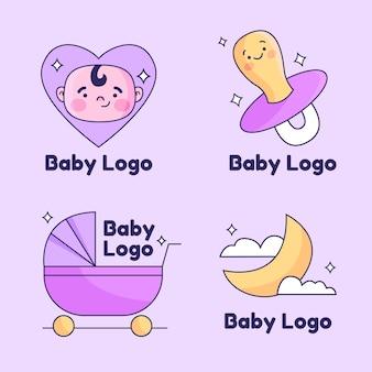Zestaw logo cute baby