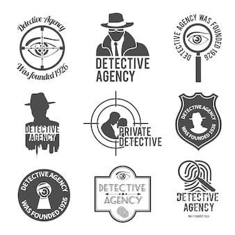Zestaw logo detektywa