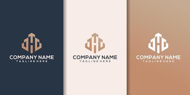 Zestaw logo dla branży budowlanej