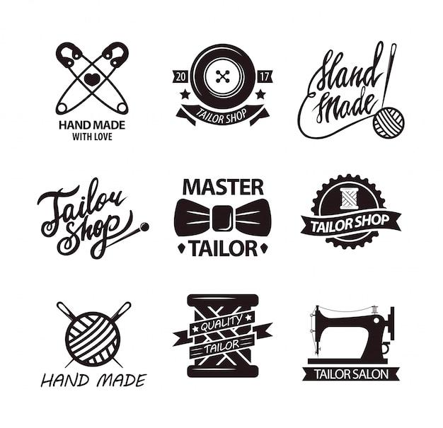 Zestaw logo dla ręcznie robionych sklepów
