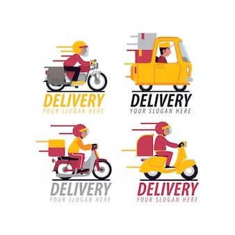 Zestaw logo dostawy