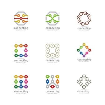 Zestaw logo elementów kształtów