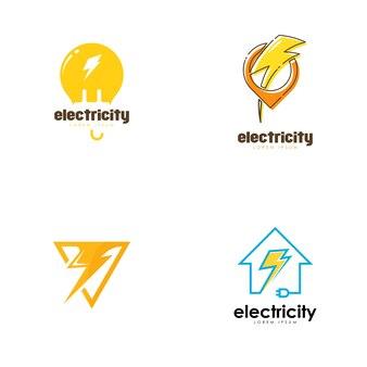 Zestaw logo energii elektrycznej