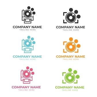 Zestaw logo fotografii zwierząt