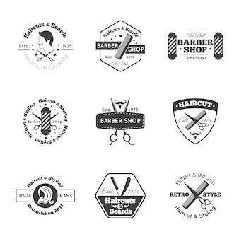 Zestaw logo fryzjer