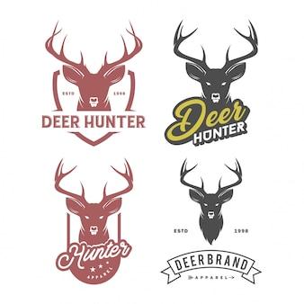 Zestaw logo głowy jelenia