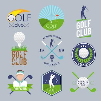 Zestaw logo golfa