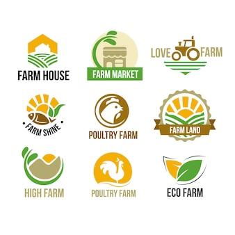 Zestaw logo gospodarstwa