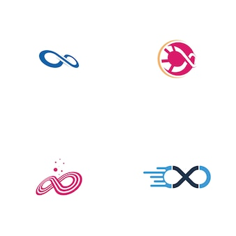 Zestaw logo infinity