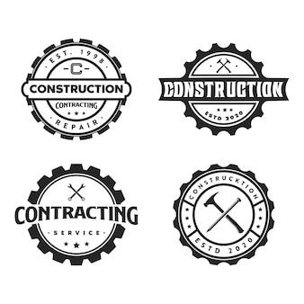 Zestaw logo konstrukcji