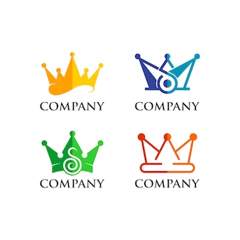 Zestaw logo korony