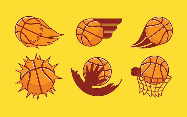Zestaw logo koszykówki