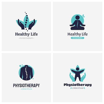 Zestaw logo kreatywnej fizjoterapii