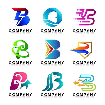 Zestaw logo litery b.