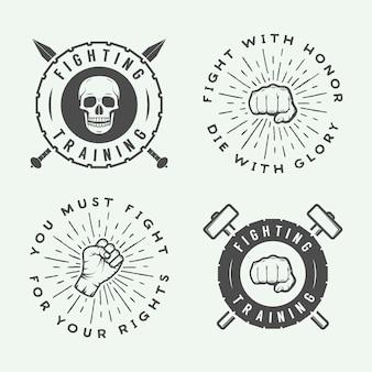 Zestaw logo mieszanych sztuk walki
