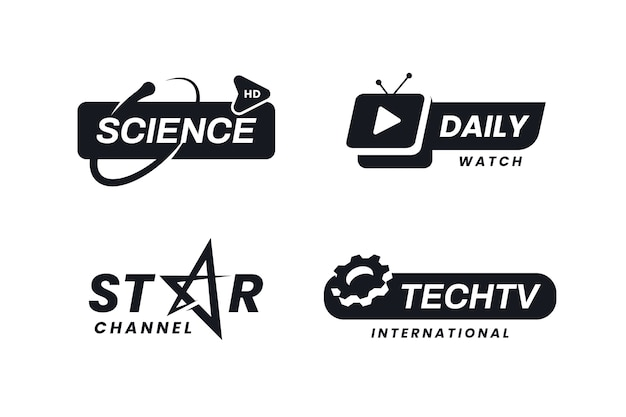 Zestaw logo minimalnej wiadomości