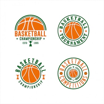 Zestaw logo mistrzostw koszykówki