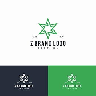 Zestaw logo monogram litery z.