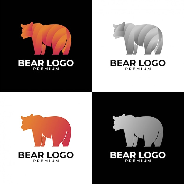 Zestaw logo niedźwiedzia
